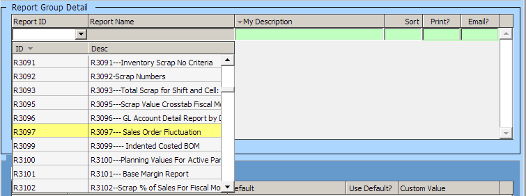 Report Group Detail