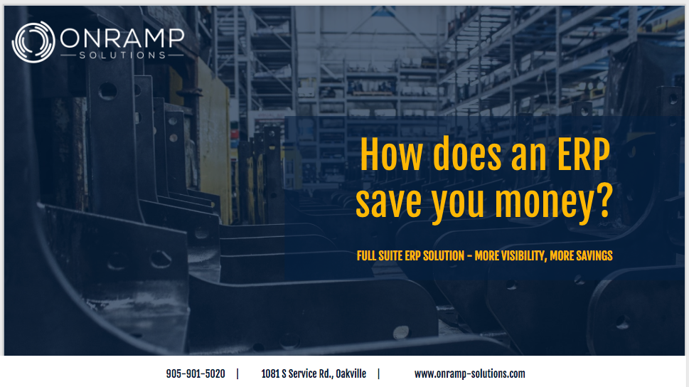 Onramp Solutions is the ERP for Manufacturing